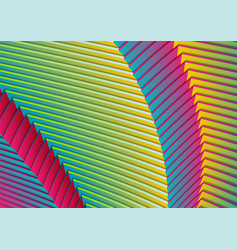 colorful curved stripes refraction pattern design vector image