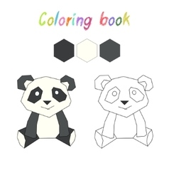 Coloring book panda kids layout for game vector