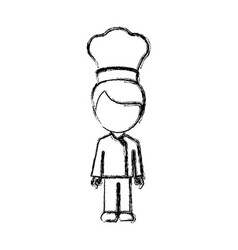 contour man chef icon vector image