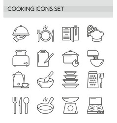 cooking accessories kitchen equipment utensil vector image