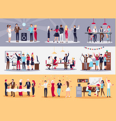Corporate parties set vector