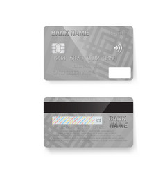 Credit card photorealistic bank card isolated on vector