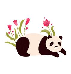 cute joyful panda vector image
