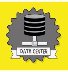 Data center base icon vector