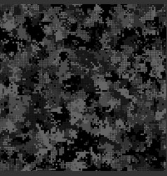 digital camouflage seamless pattern military vector image