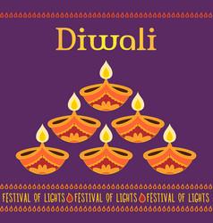 Diwali card template vector