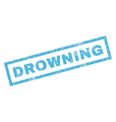 Drowning Rubber Stamp vector