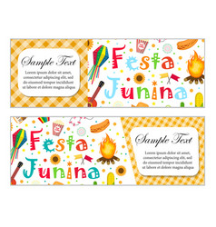 Festa junina banner set with space for text vector