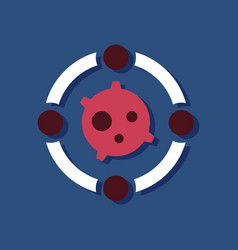 Flat icon design planet orbit in sticker style vector