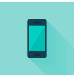 Flat mobile phone over mint vector