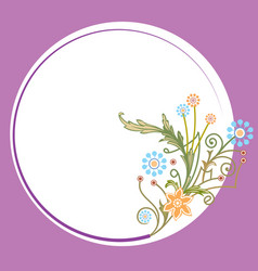 flowers and plants greeting template vector image