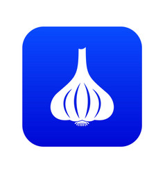 garlic icon digital blue vector image