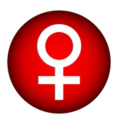 Gender female symbol button vector image