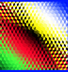 geometric polygonal pattern of a cubes in low poly vector image