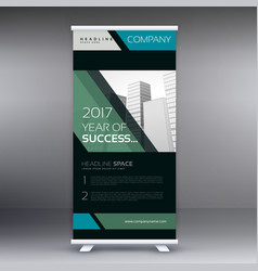 Geometric standee banner roll up design vector