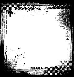 Grunge tire black elements frame vector