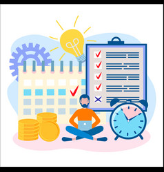 he concept of time management deadline vector image