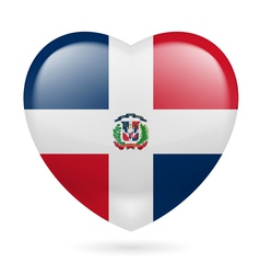Heart icon of Dominican Republic vector image