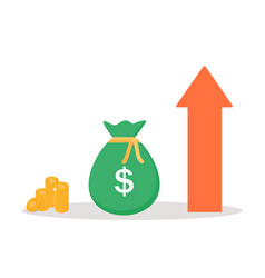 income increase financial strategy gold coins vector image