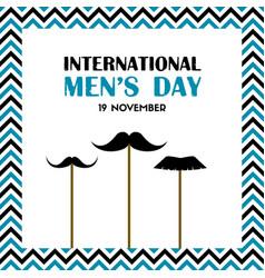 international mens day greeting card vector image