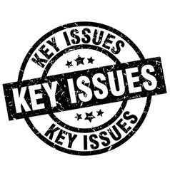 Key issues round grunge black stamp vector