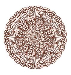 lace ornament mandala vector image