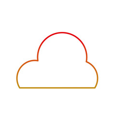 line cute natural cloud weather in the sky vector image