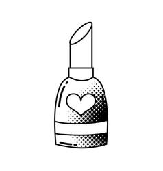 lipstick pop art style vector image