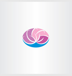 Lotus logo icon design vector