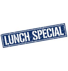 Lunch special square grunge stamp vector