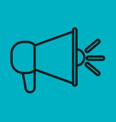 Megaphone icon speak blue background social vector