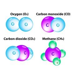 Molecule methane vector