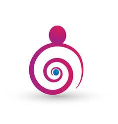 motherhood concept logo vector image