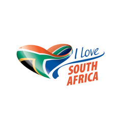 National flag south africa in shape of vector
