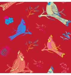 Parrot Bird Seamless Background vector image vector image