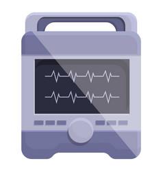 Patient defibrillator icon cartoon style vector