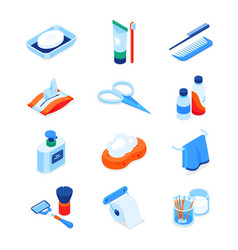 Personal hygiene - modern colorful isometric icons vector