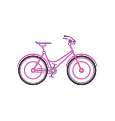 pink classic women bike modern bicycle vector image