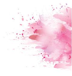 pink splash vector image