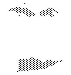 Pixel usa virgin islands map vector