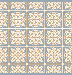 portuguese style ceramic tile seamless pattern vector image