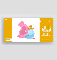 preschooler education batoys website landing vector image
