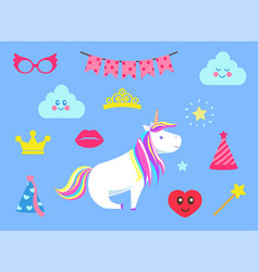 princess party celebration isolated set vector image