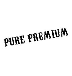 Pure premium rubber stamp vector