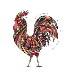 Rooster inspired zentangle style vector