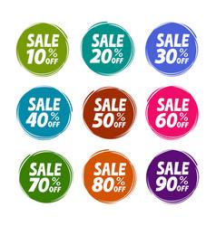 sale label set business shop mall concept vector image