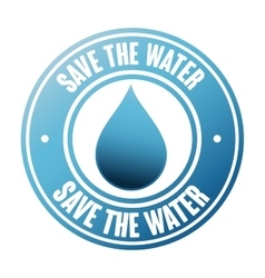 save the water seal vector image