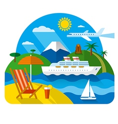 sea and ocean resort vector image