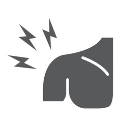 Shoulder pain glyph icon body and injure vector