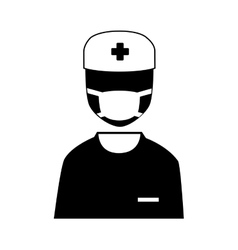 Silhouette icon staff medical service isolated vector